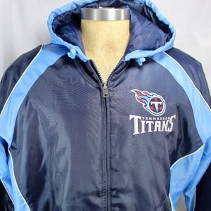 NFL Tennessee Titans Large Hooded Coat Zip Up Larg